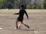 竹原テンズ ゴールキックを蹴るキンタ
