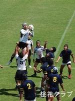 岡山県リーグ2012 VS岡山大学 ラインアウト和家ドン