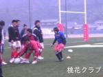 岡山県クラブ選抜戦 アップから気合満点の段堂氏