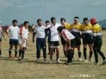 vs岡山クラブ ラインアウトに並ぶへい、大吉